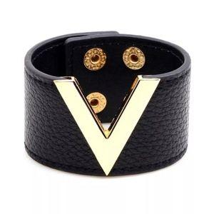 Vegan Leather Wide Cuff Bracelet